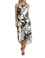 Wayne Cooper - Metal Work Highlow Midi Dress