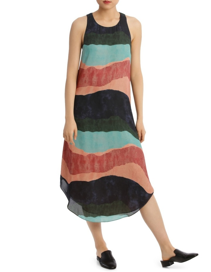Ozone Print Shirtail Midi Dress image 1
