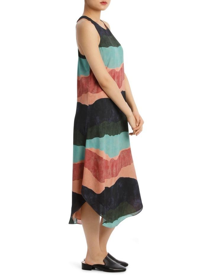 Ozone Print Shirtail Midi Dress image 2