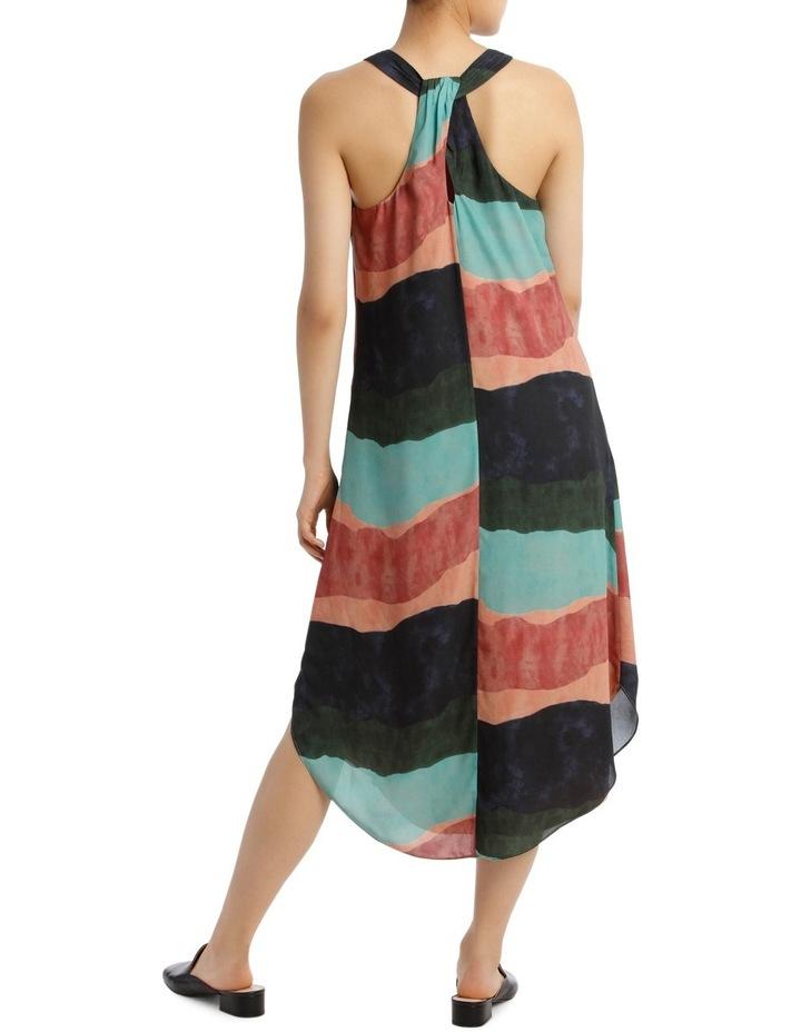 Ozone Print Shirtail Midi Dress image 3