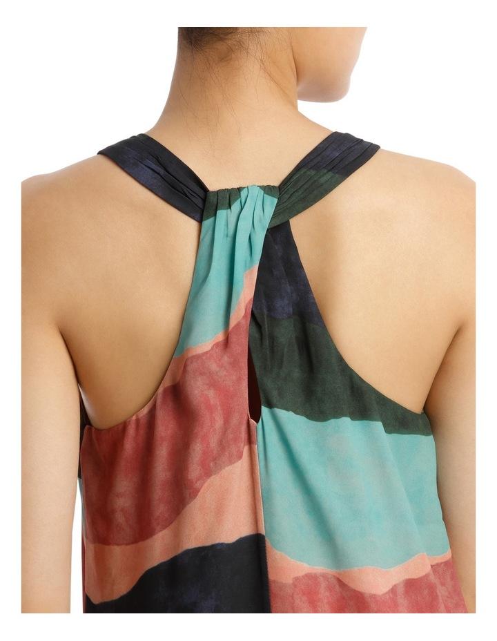Ozone Print Shirtail Midi Dress image 4