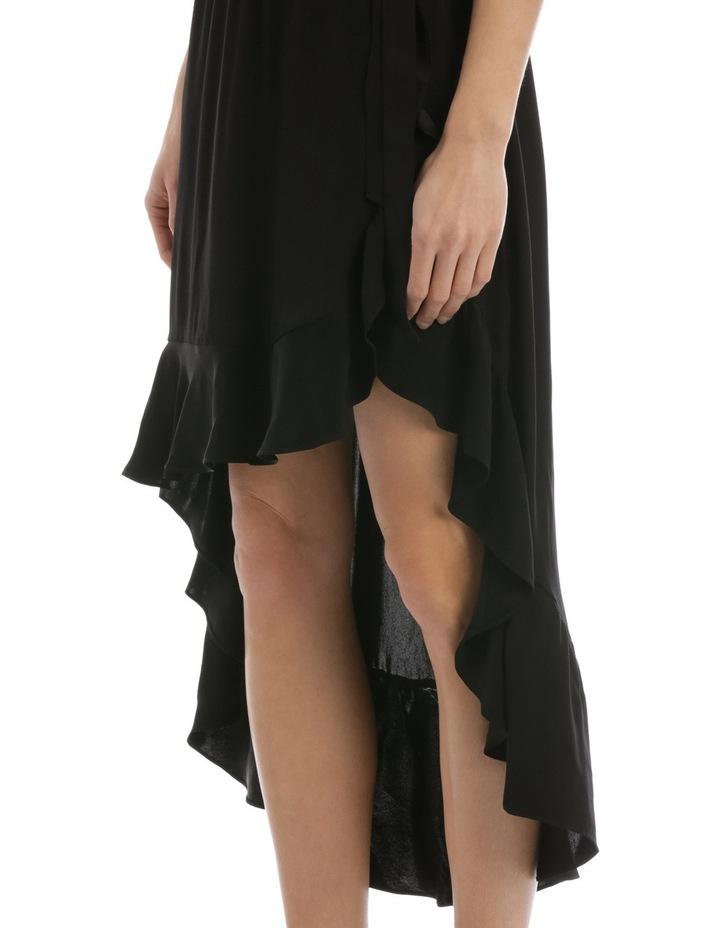 Black One Shoulder Ruffle Dress image 4