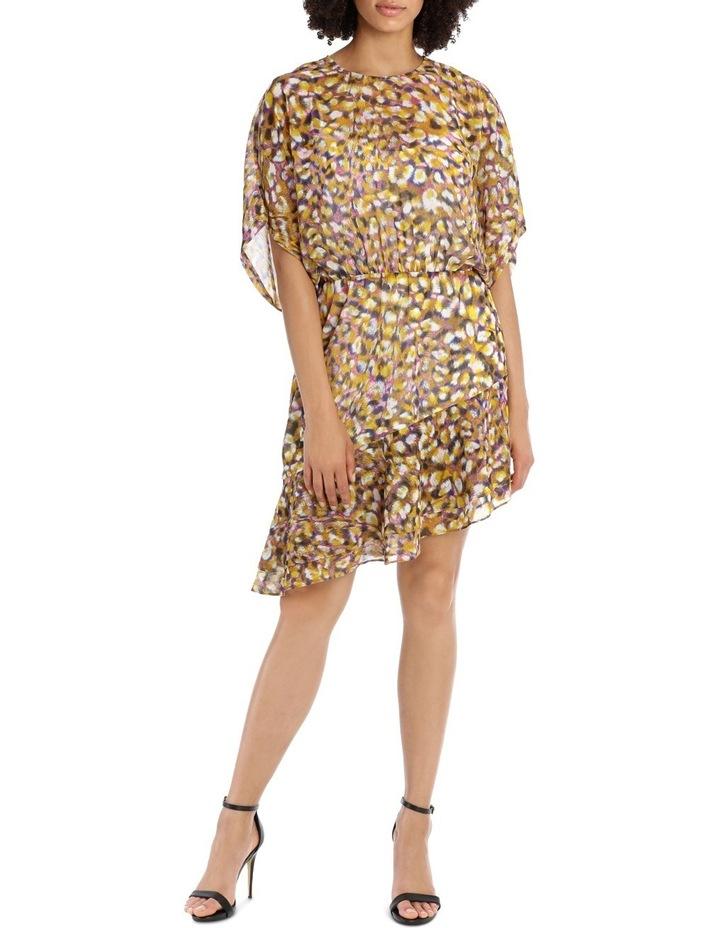 Techno Leopard Print  Batwing Dress image 1