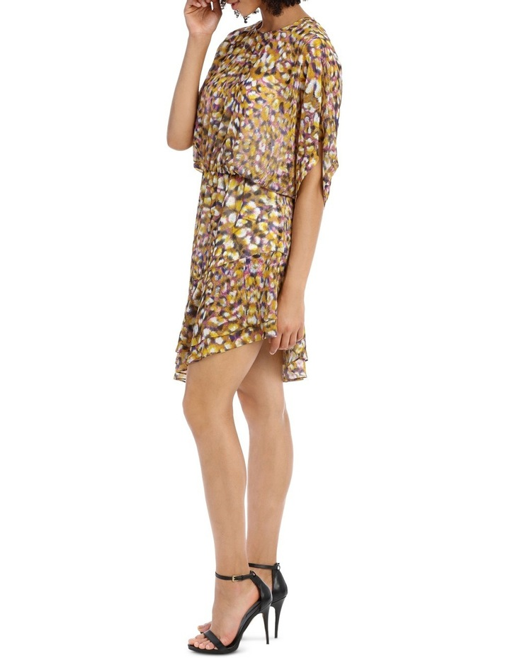 Techno Leopard Print  Batwing Dress image 2