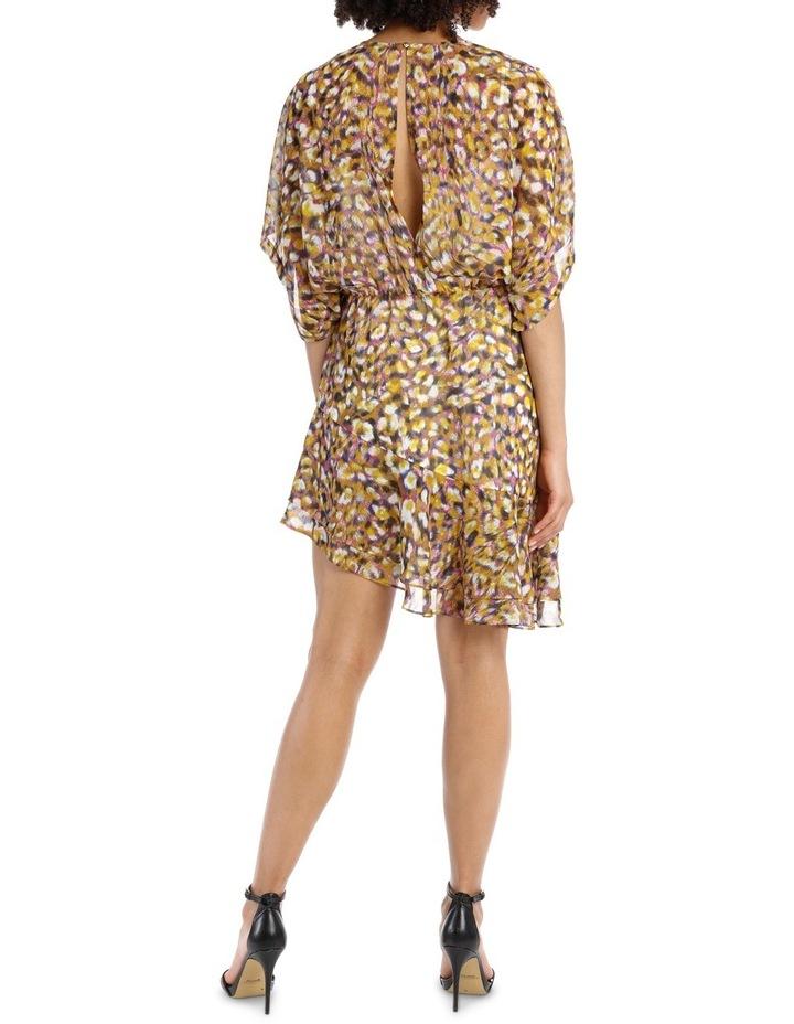 Techno Leopard Print  Batwing Dress image 3