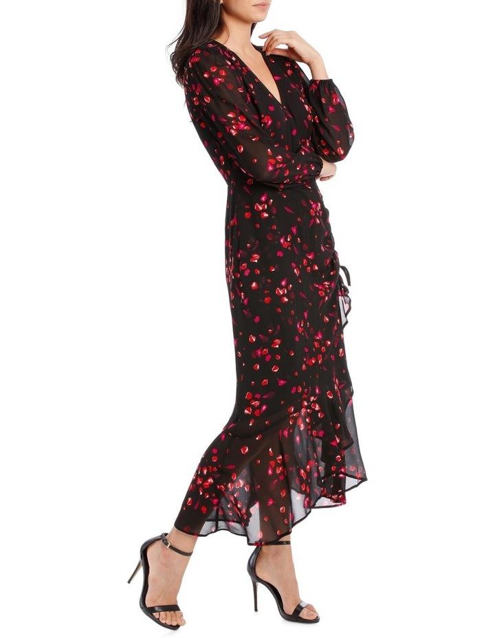 Black Diamond Petal Side Ruffle Dress image 2