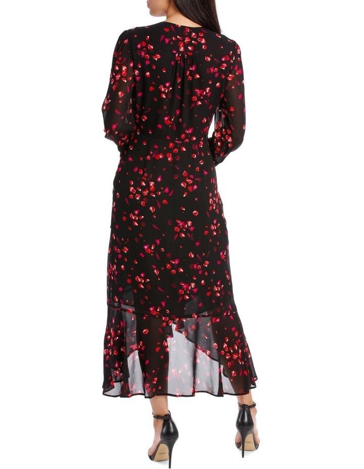 Black Diamond Petal Side Ruffle Dress image 3