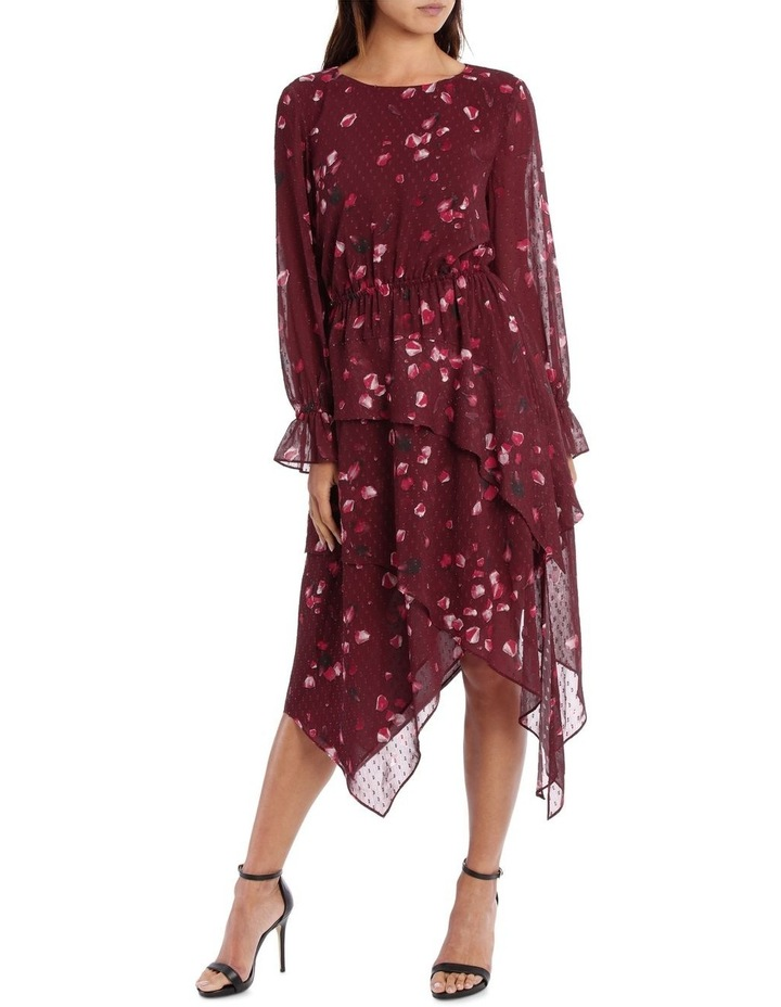 Raspberry Diamond Petal Hankershief Hem Dress image 1