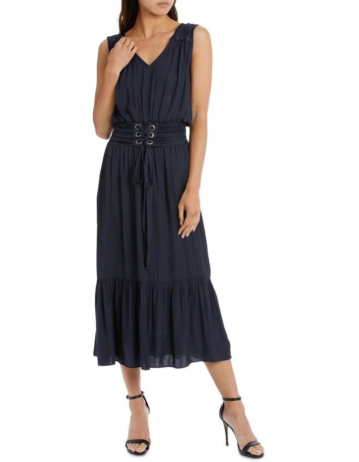 Navy Eyelet Frill Dress image 1