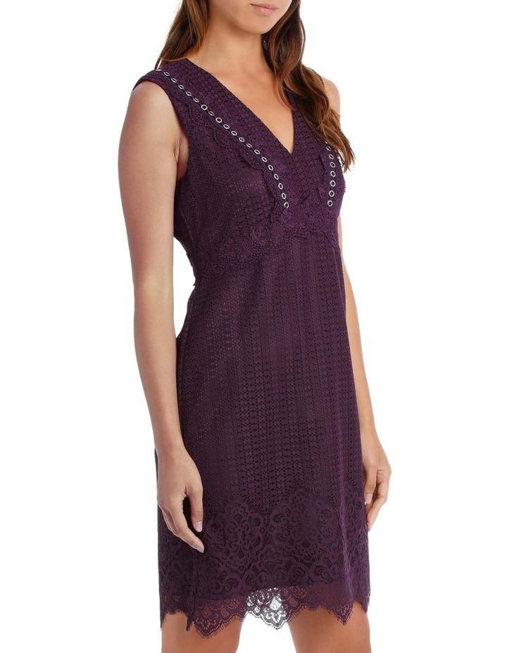 Bordeux Eyelet Trim Lace Dress image 2
