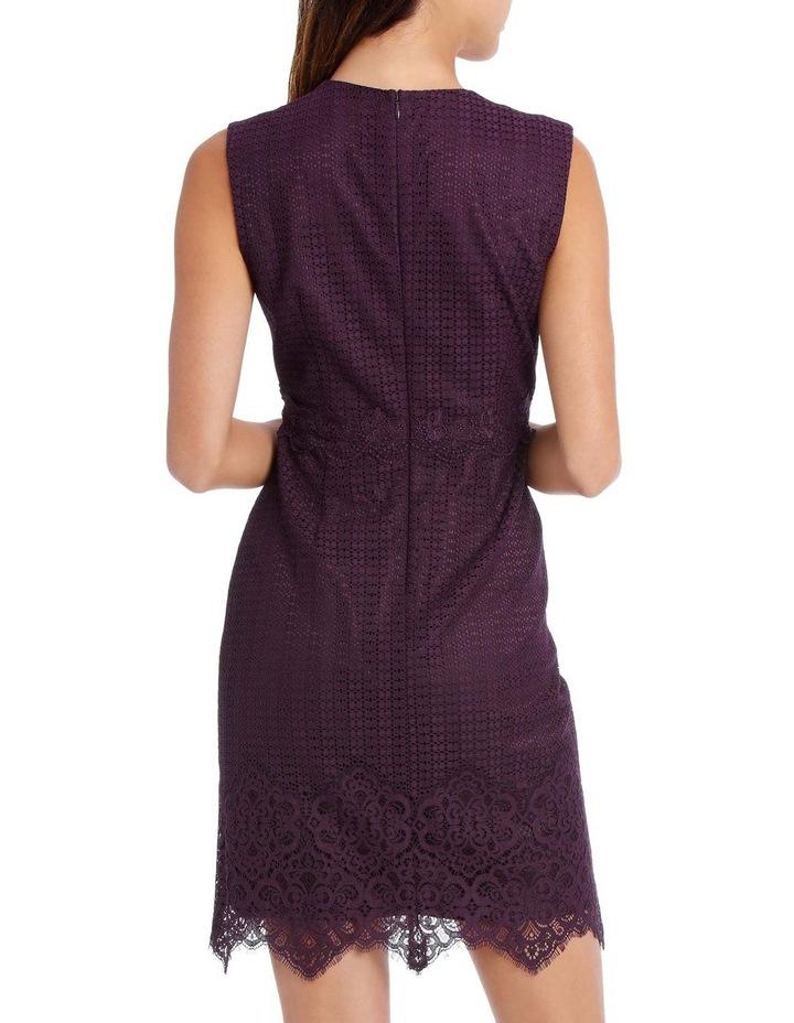Bordeux Eyelet Trim Lace Dress image 3