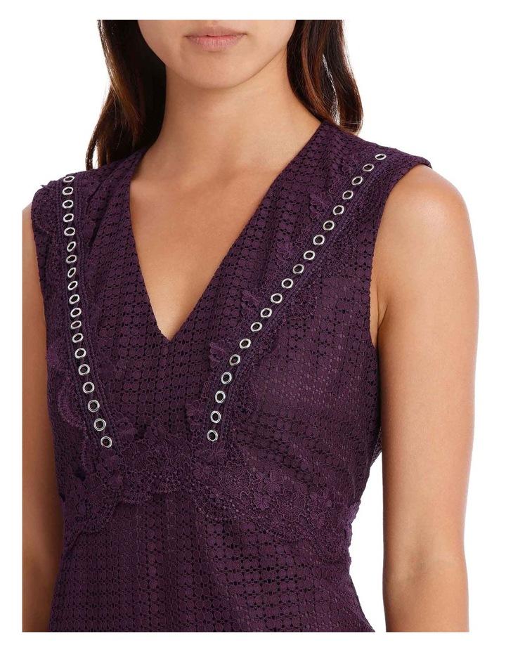 Bordeux Eyelet Trim Lace Dress image 4