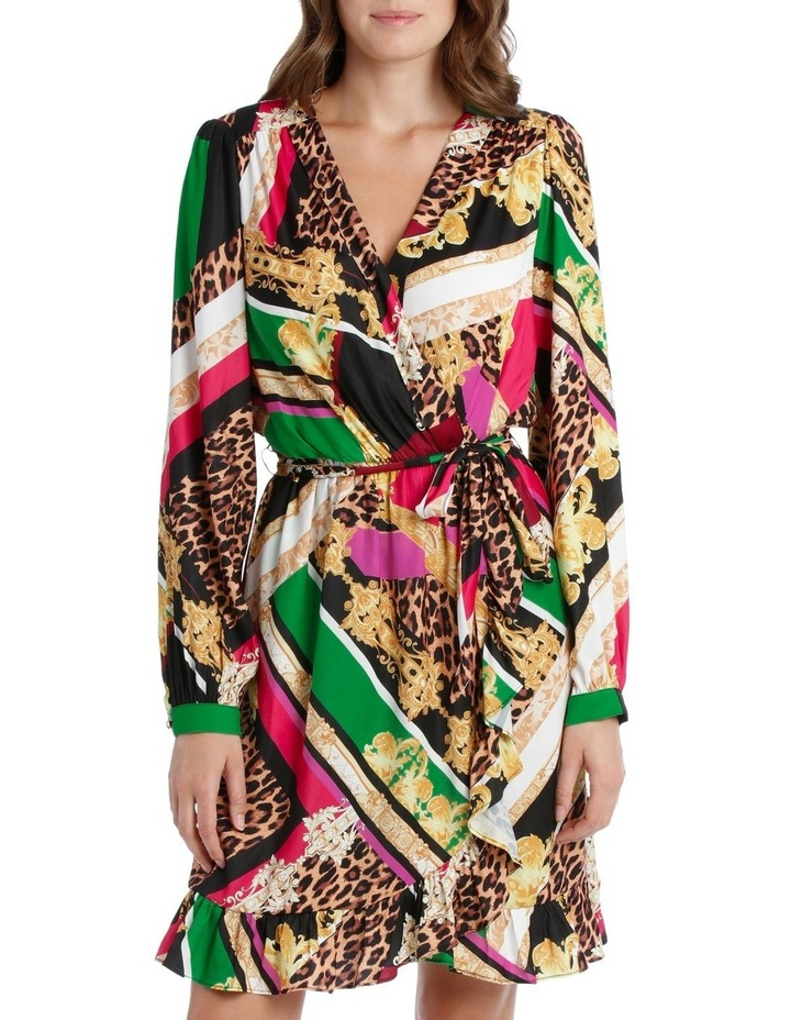 Patchwork Scarf Print Dress image 1