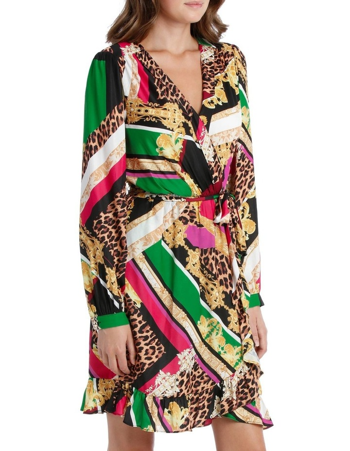 Patchwork Scarf Print Dress image 2