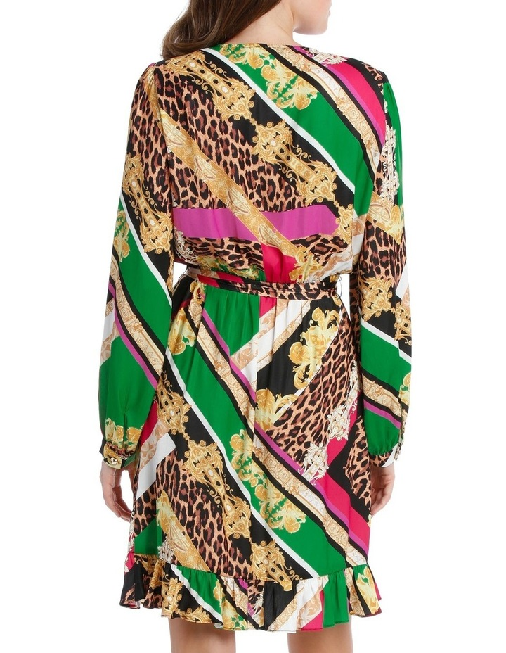 Patchwork Scarf Print Dress image 3