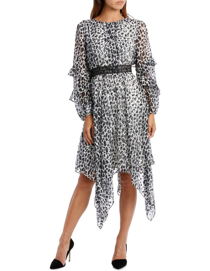 Wild Cheetah Print Midi Dress image 1