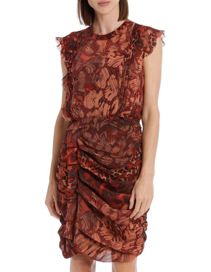 Phoenix Print Rouched Dress image 1