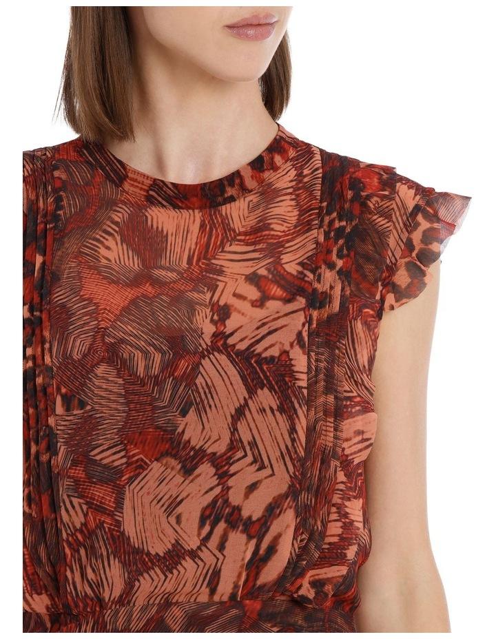 Phoenix Print Rouched Dress image 3