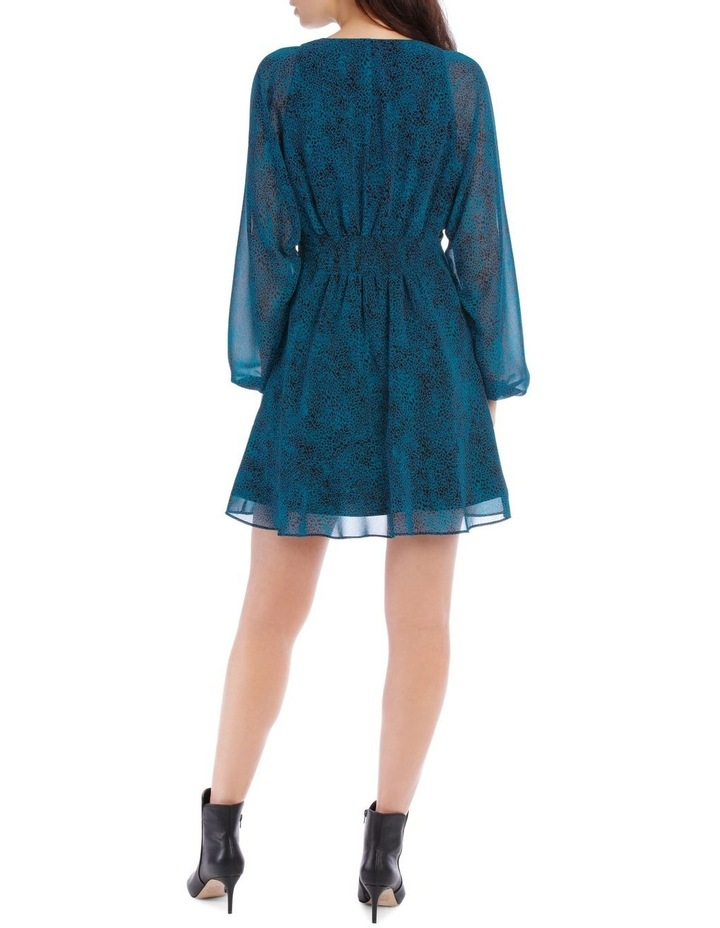 Peacock Pop Animal Print  Dress image 3