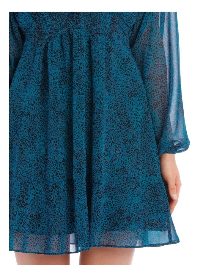 Peacock Pop Animal Print  Dress image 4