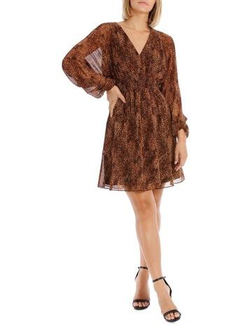 559bab4f1a79 Wayne Cooper Natural Pop Animal Print Dress