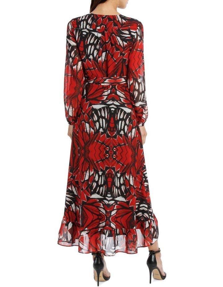 Butterfly Print Wrap Dress image 3