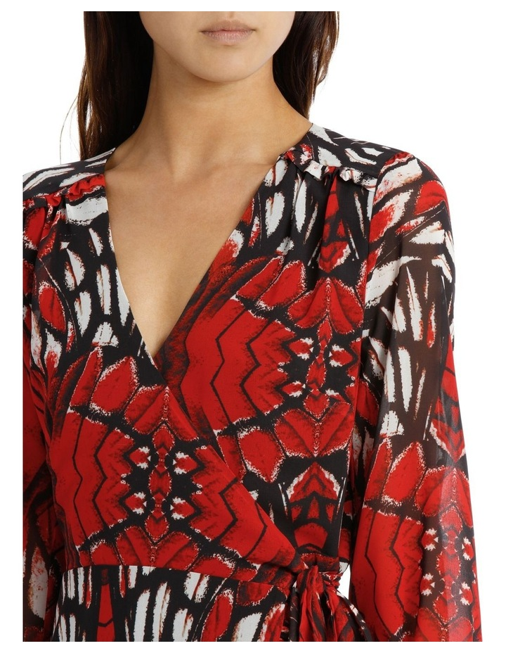 Butterfly Print Wrap Dress image 4