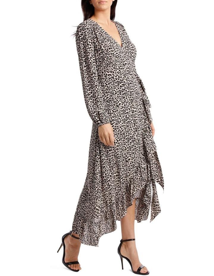 Gold Leopard Print Wrap Dress image 2
