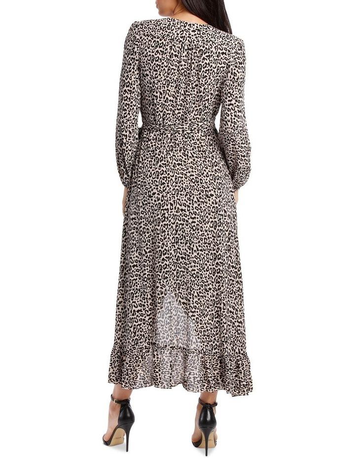 Gold Leopard Print Wrap Dress image 3