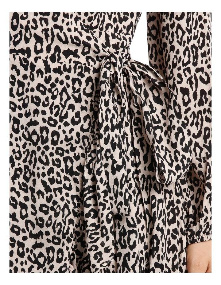 Gold Leopard Print Wrap Dress image 4