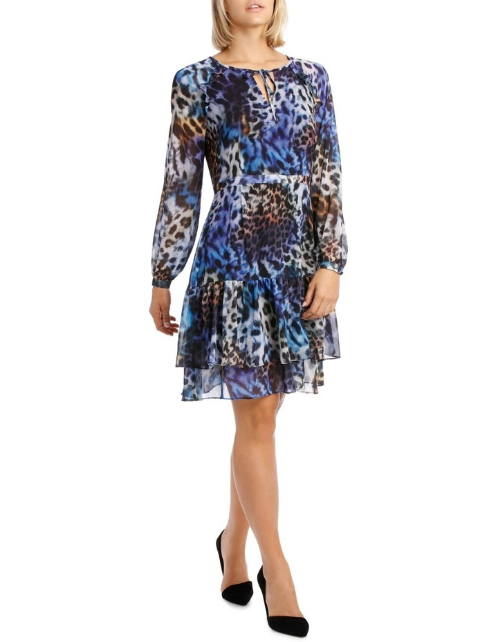 Kaleidoscope Leopard Frill Tiered Dress image 2