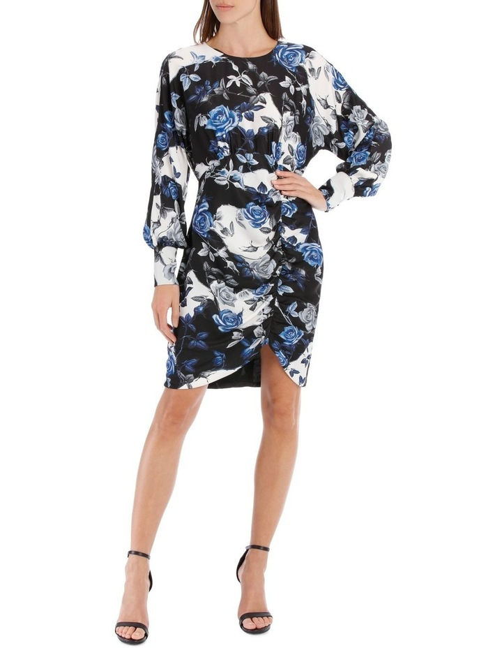 Blue Water Floral Fitted Dress image 1