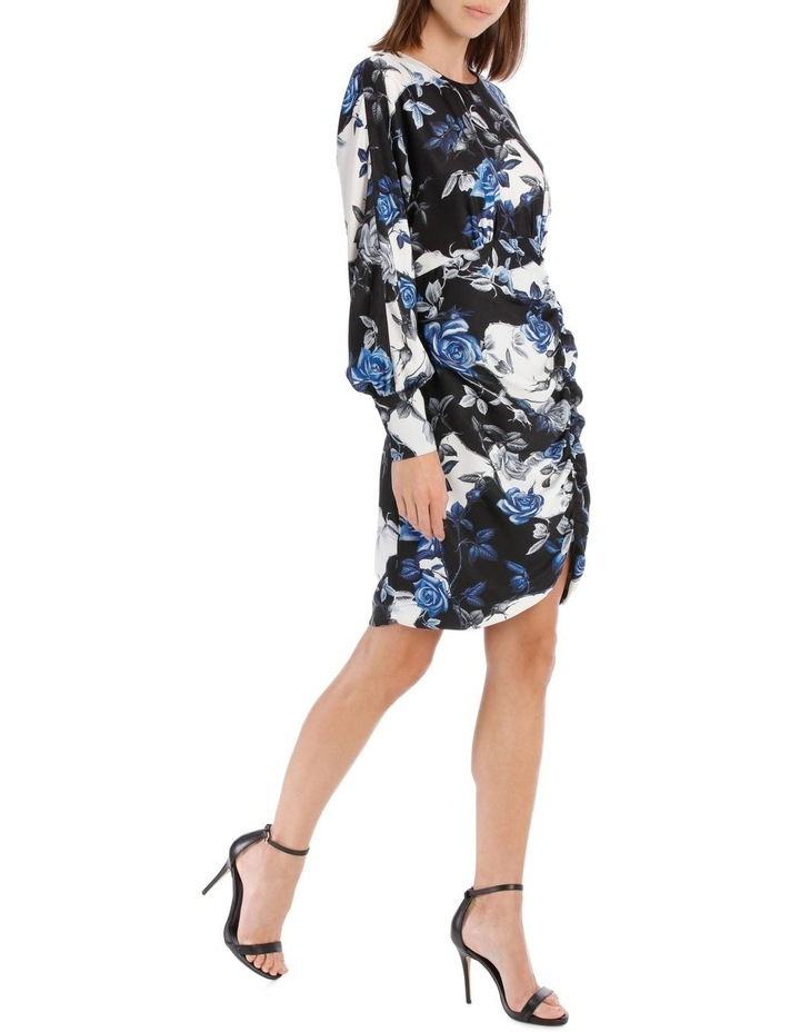 Blue Water Floral Fitted Dress image 2