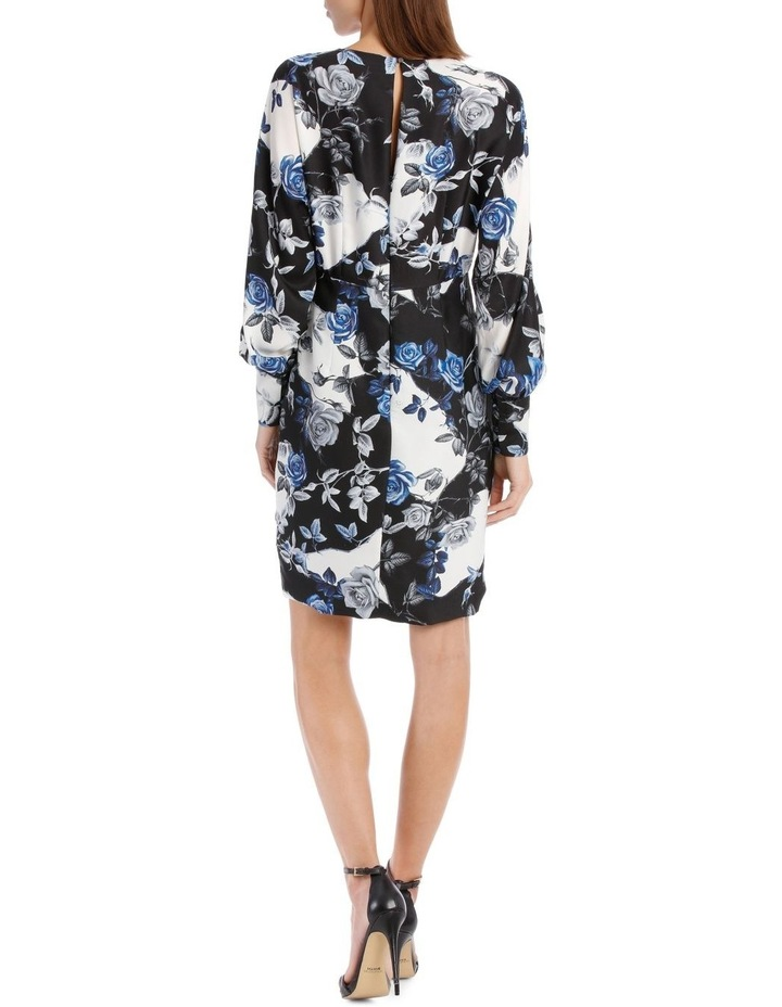Blue Water Floral Fitted Dress image 3