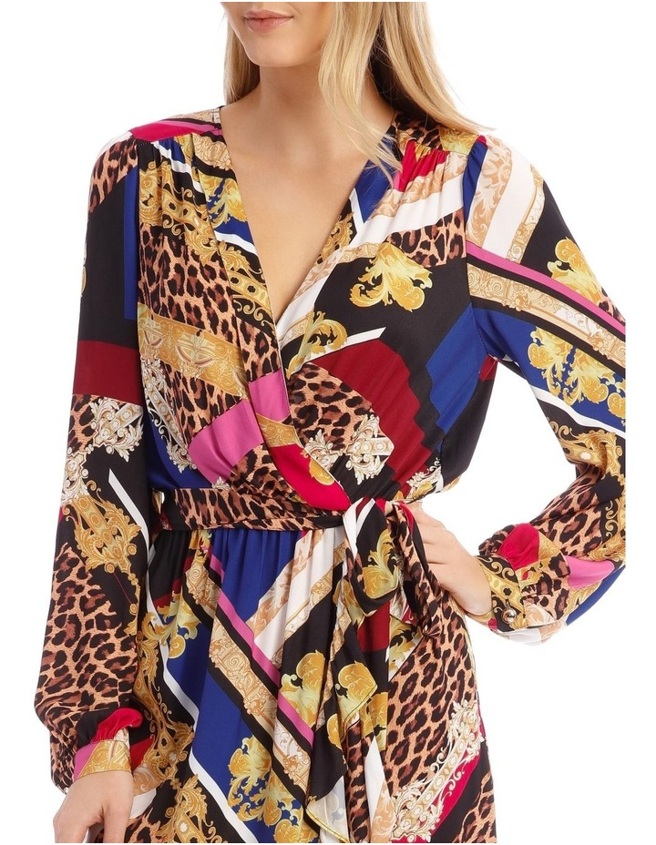 Patchwork Scarf Print Dress image 4