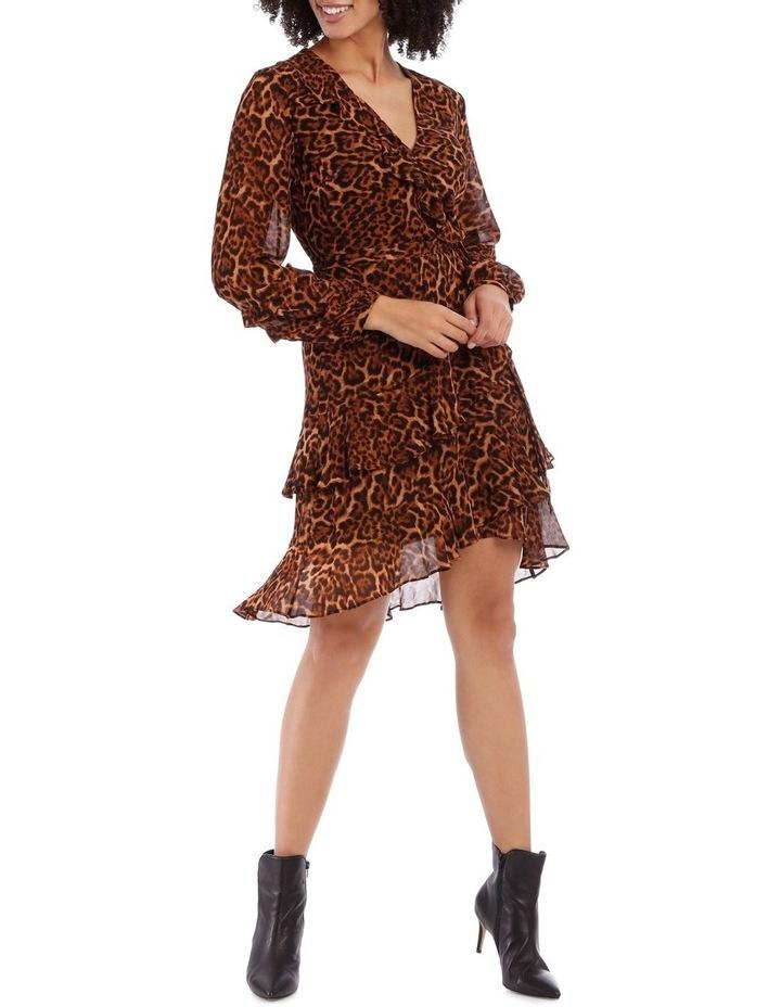 True Leopard Frill Dress image 1