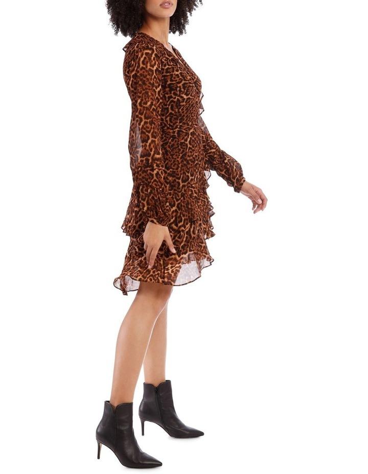 True Leopard Frill Dress image 2