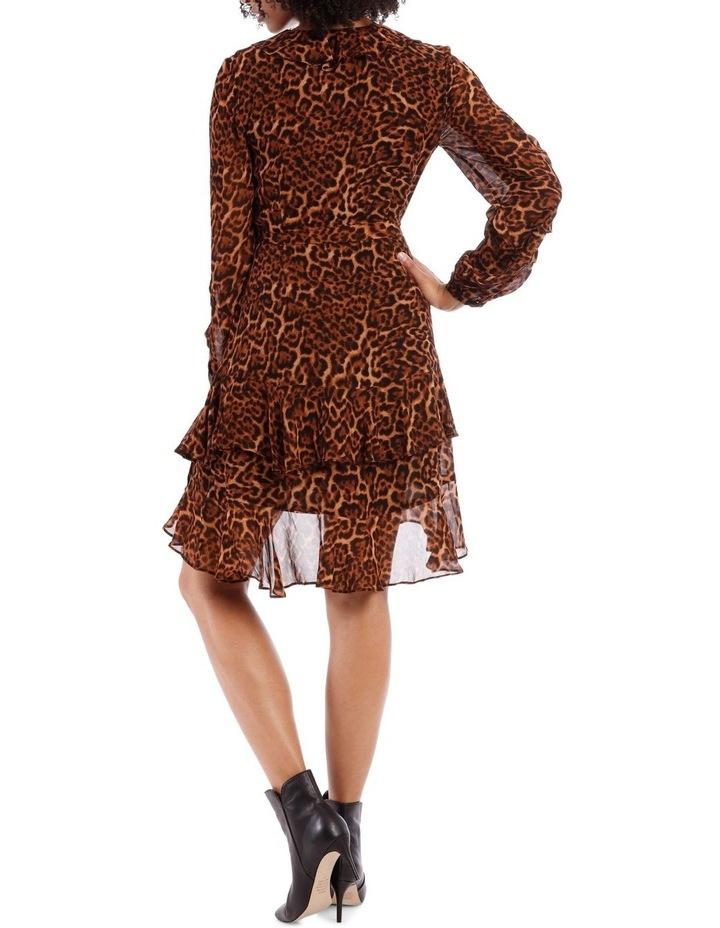 True Leopard Frill Dress image 3