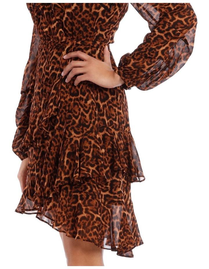 True Leopard Frill Dress image 4