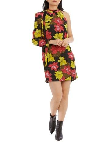 72852aa4d2809a Wayne CooperGolden Floral Print One Sleeve Dress. Wayne Cooper Golden  Floral Print One Sleeve Dress