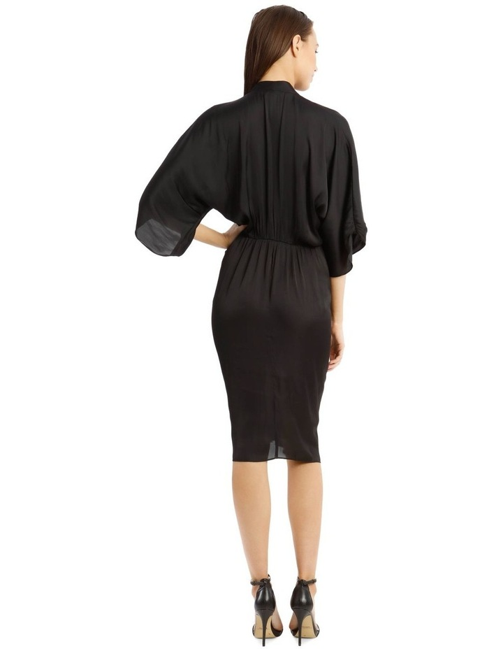 Dolman Rouched Waist Solid Dress image 3