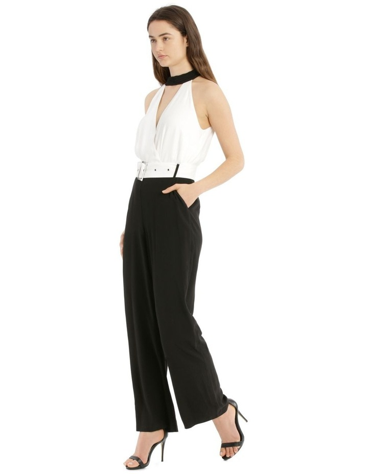 Jumpsuit Halo Neck Self Covered Belt image 2
