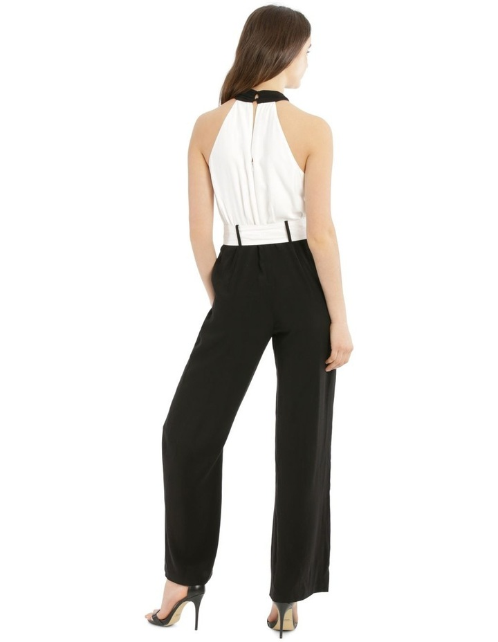 Jumpsuit Halo Neck Self Covered Belt image 3