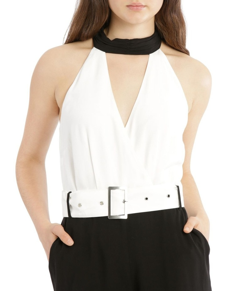Jumpsuit Halo Neck Self Covered Belt image 4