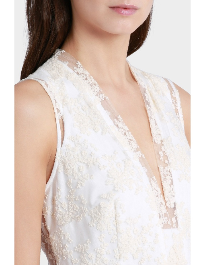 Embroidered Mesh Fit And Flare Dress image 4