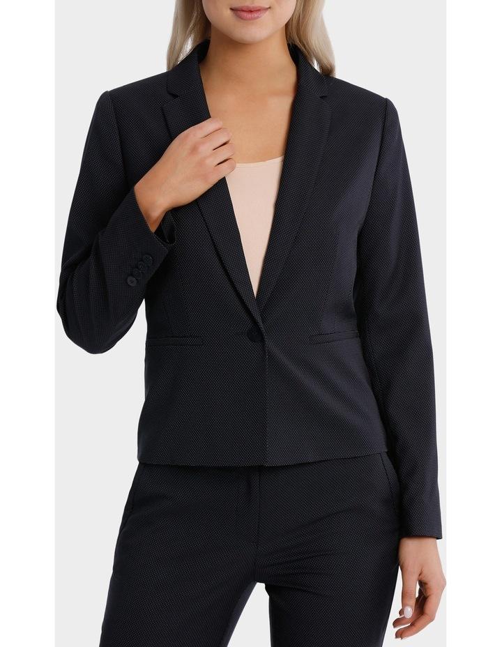 Navy Pin Dot Suit Jacket image 1