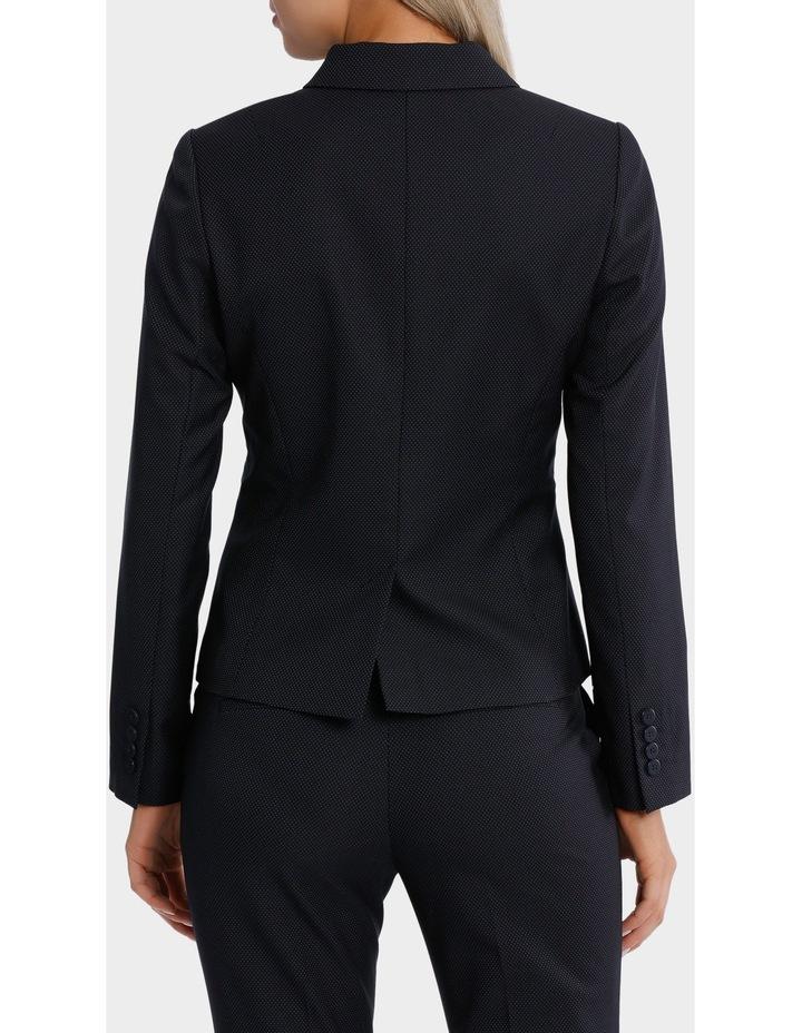 Navy Pin Dot Suit Jacket image 3
