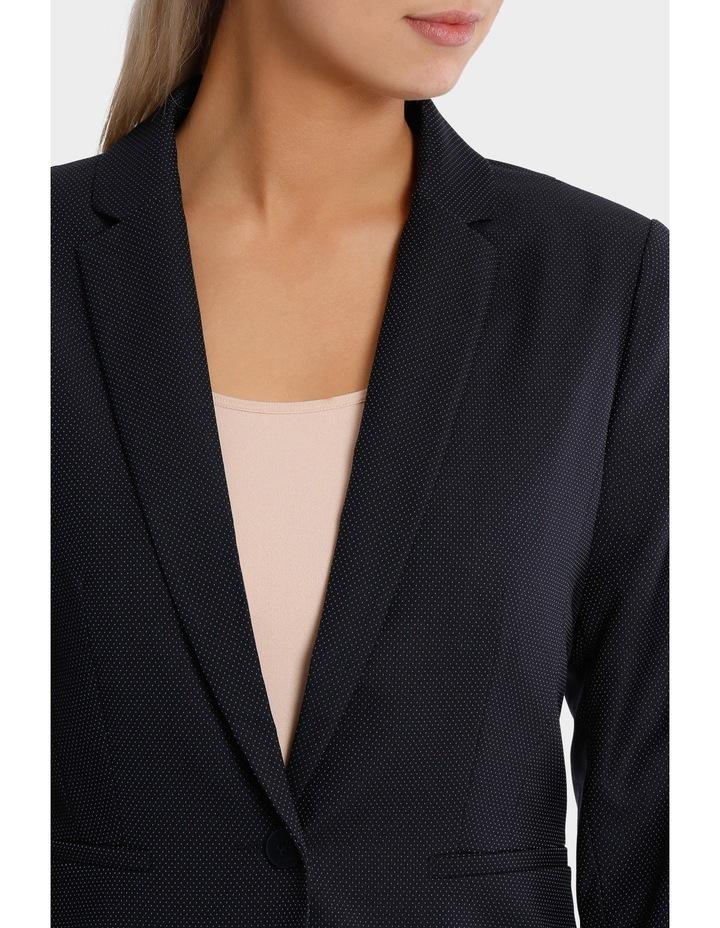 Navy Pin Dot Suit Jacket image 4