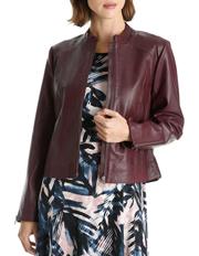 Basque - Zip Thru Leather Jacket