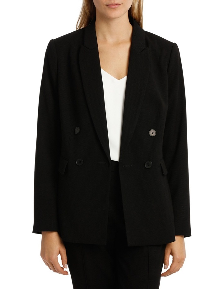 Double Breasted Prism Longline Suit Jacket image 1